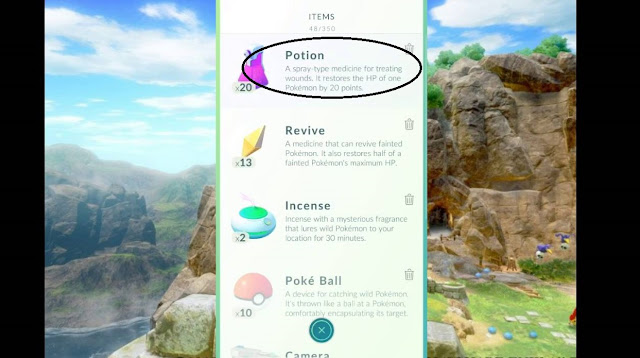 Cara Mendapatkan Potion di Pokemon GO