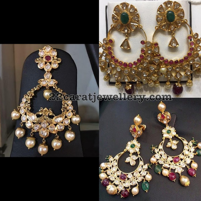 Pachi Work Gemstone Chandbalis