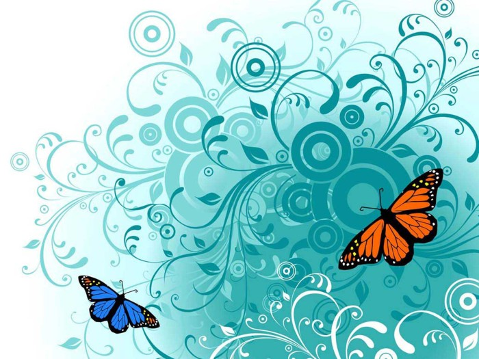 Teal Butterfly Wallpaper High Quality Desktop, iphone and ...