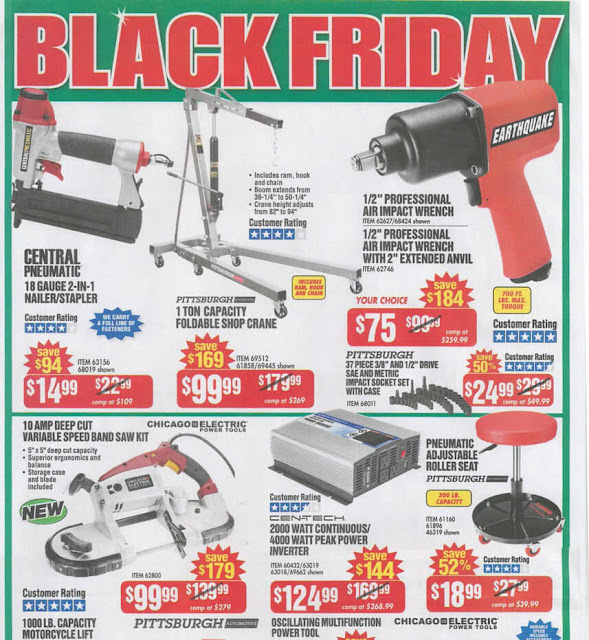 Harbor Freight Black Friday 2016 tools ad