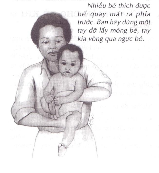 Cách bế bé đúng và giúp bé thoải mái