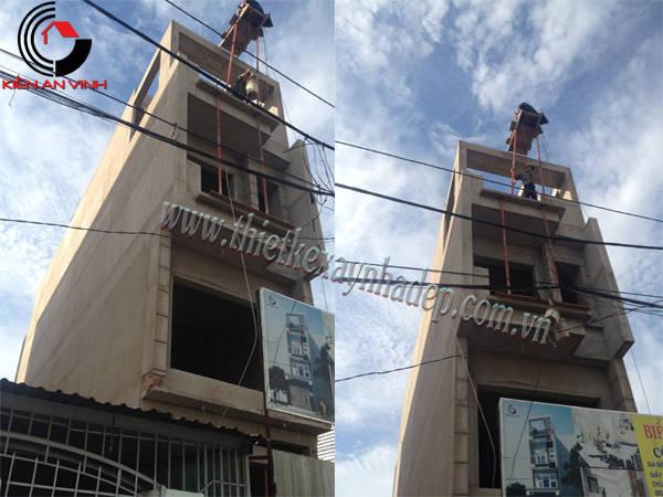 Thiết kế thi công xây nhà ống 2 tầng chị Trúc tại quận 7 Thi-cong-nha-pho-4