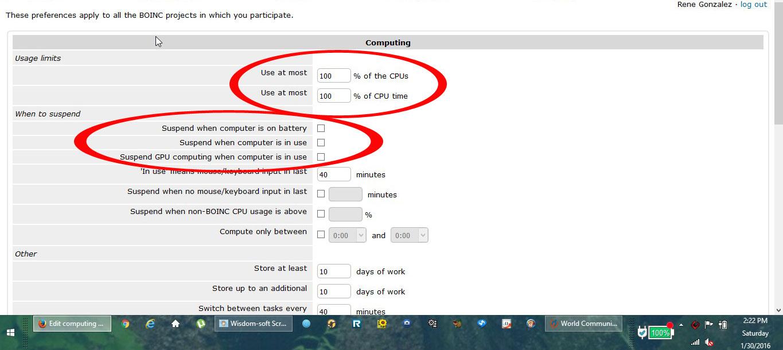 BOINC Distributed Computing 100% cpu and gpu time 24/7