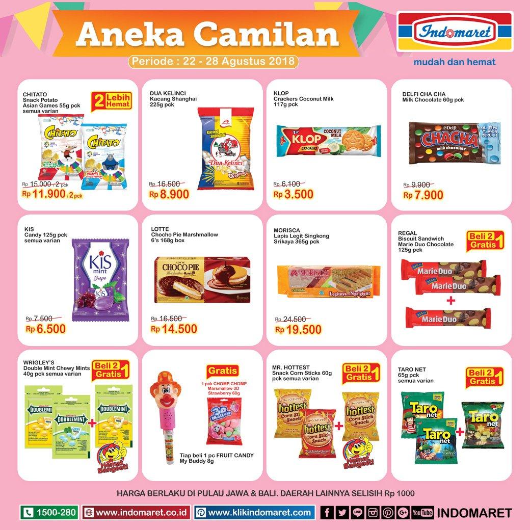 Indomaret - Promo Camilan Harga Hemat (22 - 28 Agustus 2018)