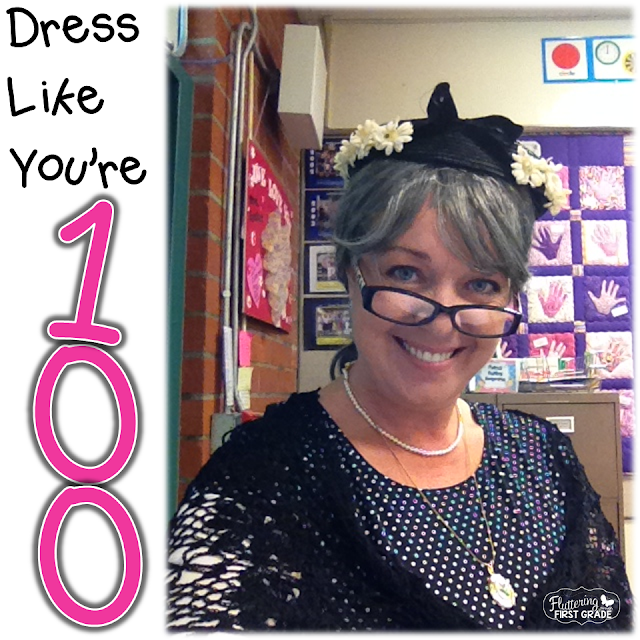 100th Day of School dress like you're 100 years old family lette