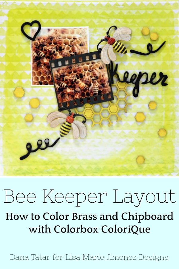 Yellow Layout with Honeycombs and Hand Painted Brass Bees