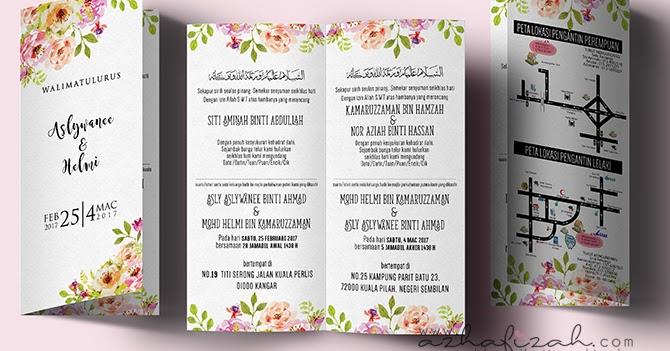 Design Kad Jemputan Kahwin Tema Floral Blog Sihatimerahjambu