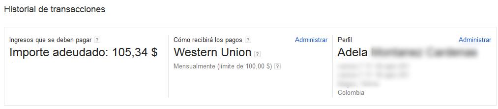 RECLAMAR PAGO GOOGLE ADSENSE COLOMBIA :)