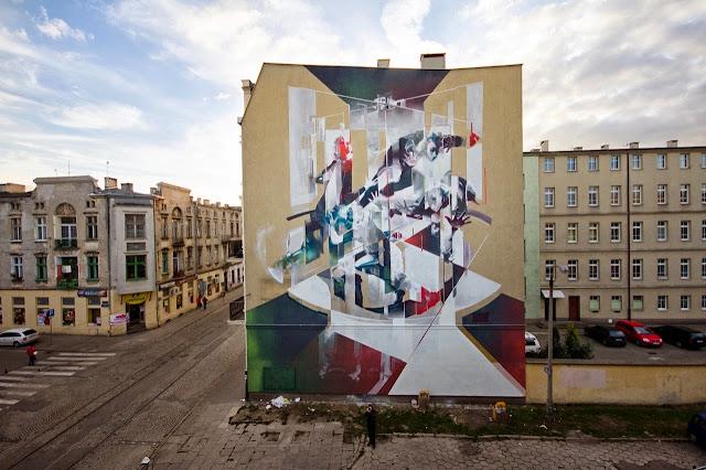 Street Art By Polish Artist Tone For Fundacja Urban Forms 2013 In Lodz, Poland. 2
