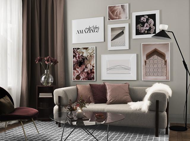 Gallery Wall - Inspiration zum Erstellen eines