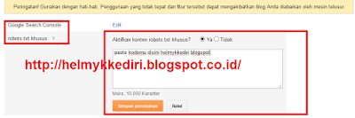 Cara Aman Setting Robot txt Seo Friendly