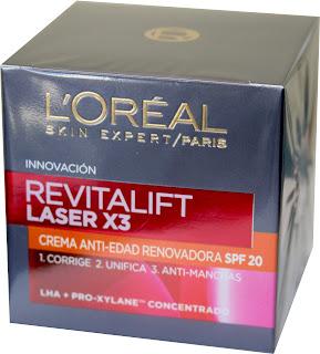 Revitalift Laser X3 Dia antiarrugas spf 20 Loreal