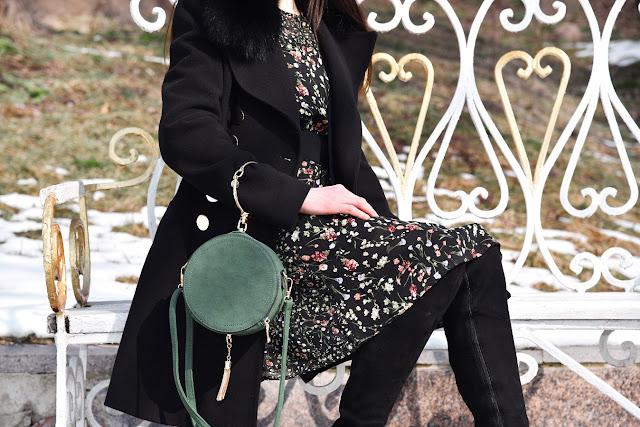 Платье в цветочек, floral dress