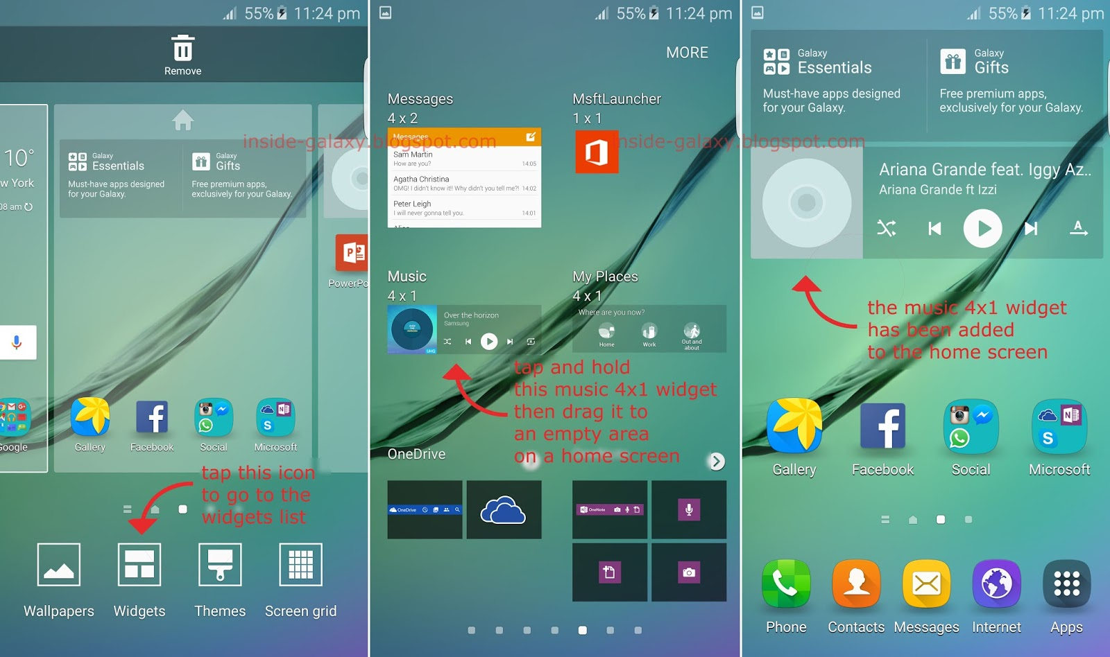 Samsung Galaxy S6 Edge: How To Add Or Remove Widget In
