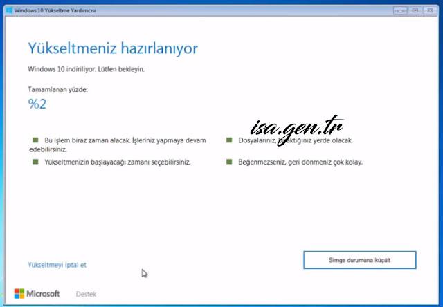 Windows ücretsiz yükseltme