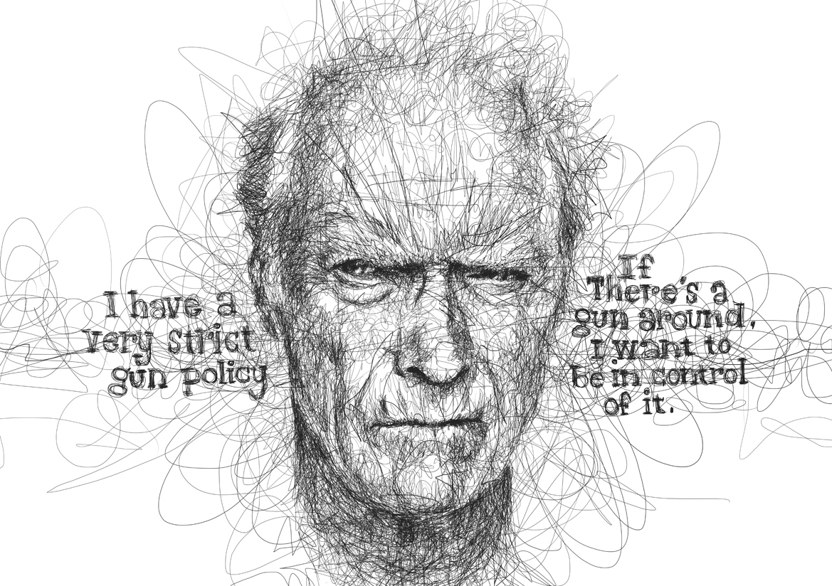 20-Clint-Eastwood-Vince-Low-Scribble-Drawing-Portraits-Super-Heroes-and-More-www-designstack-co