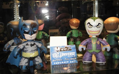 Blue and Gray Batman and The Joker DC Universe Mez-Itz Vinyl Figures by Mezco Toyz