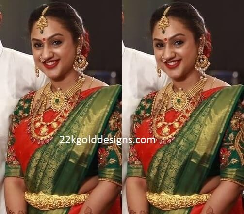 Preetha Vijaykumar's Jewellery at Sridevi's Baby Shower