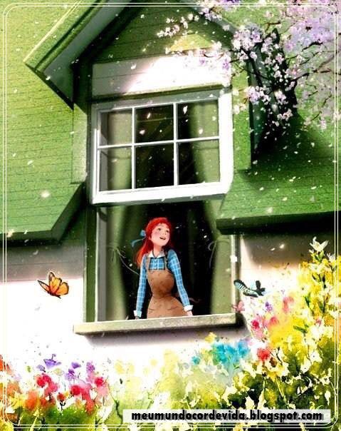 garota feliz na janela