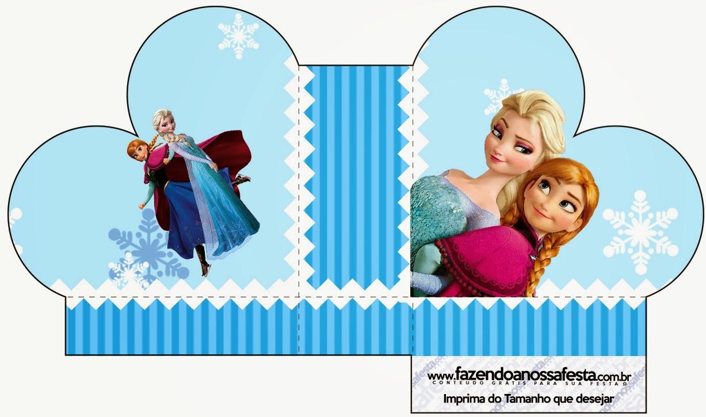 Caja abierta en forma de corazón de Frozen en Navidad Azul.