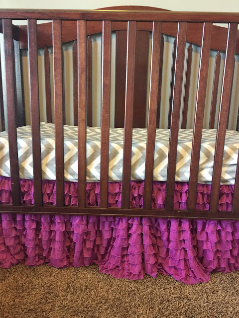 Purple Baby Girl Nursery Dust Ruffle by A Vision to Remember