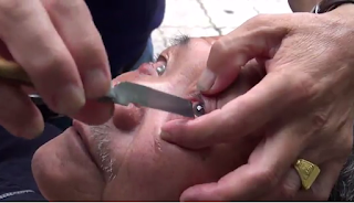 Barber In China Has Been Shaving People's Eyeballs For More Than Four Decades