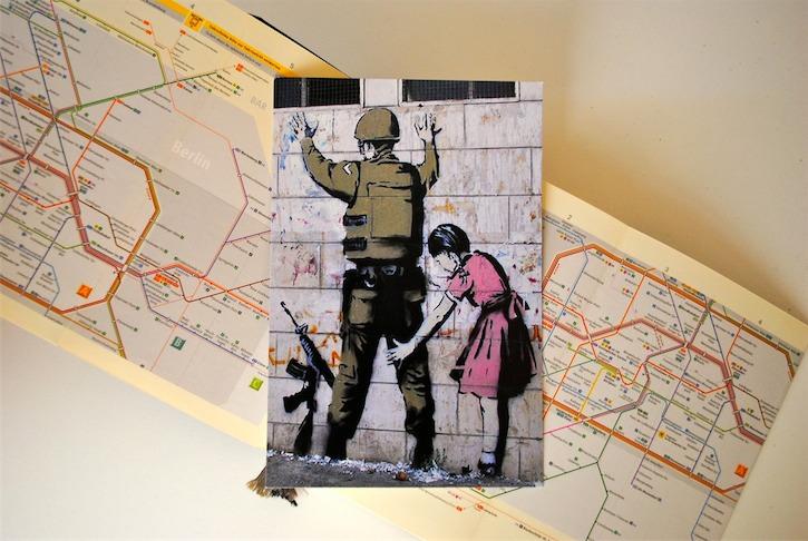 the little miss postcrosser banksy postcards artworks from streets to homes. Black Bedroom Furniture Sets. Home Design Ideas