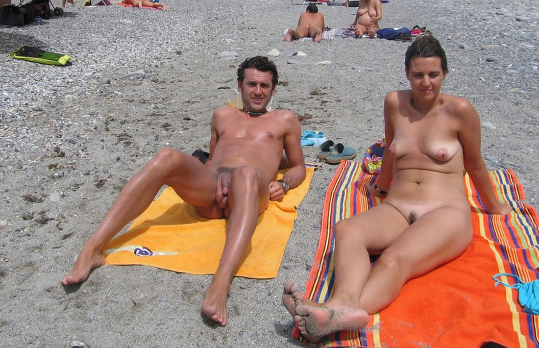 Nude Beach Couples  Pounding My Busty White-2057
