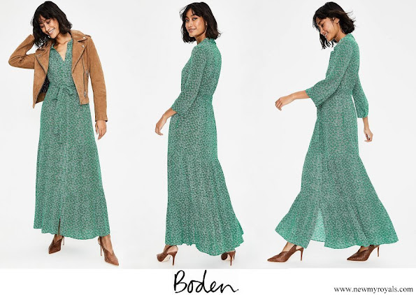 Kate Middleton wore BODEN Viola Maxi Shirt Dress
