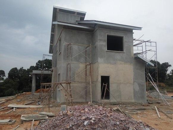 kontraktor bina rumah banglo 2 tingkat