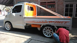 Modifikasi Grand Max Pick Up berkepala Luxio.
