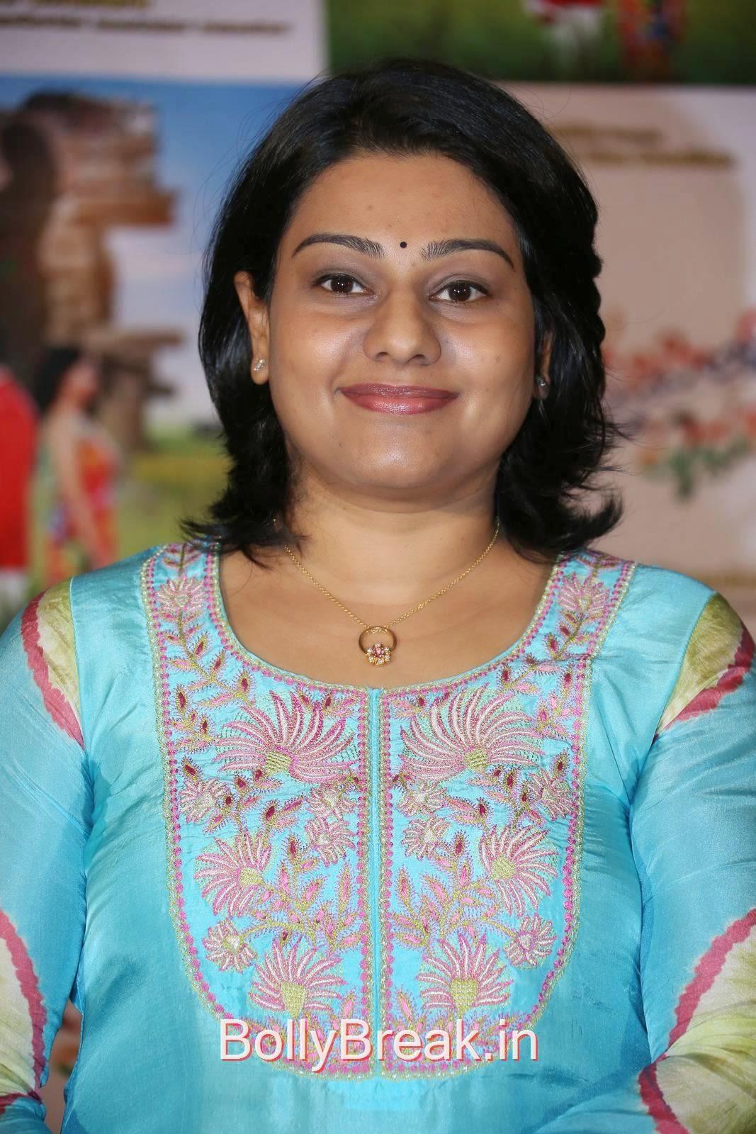 Telugu Producer Lagadapati Sirisha Sridhar, Hot HD Images Of Lagadapati Sirisha Sridhar  In Blue Dress At Krishnamma Kalipindi Iddarini Press Meet