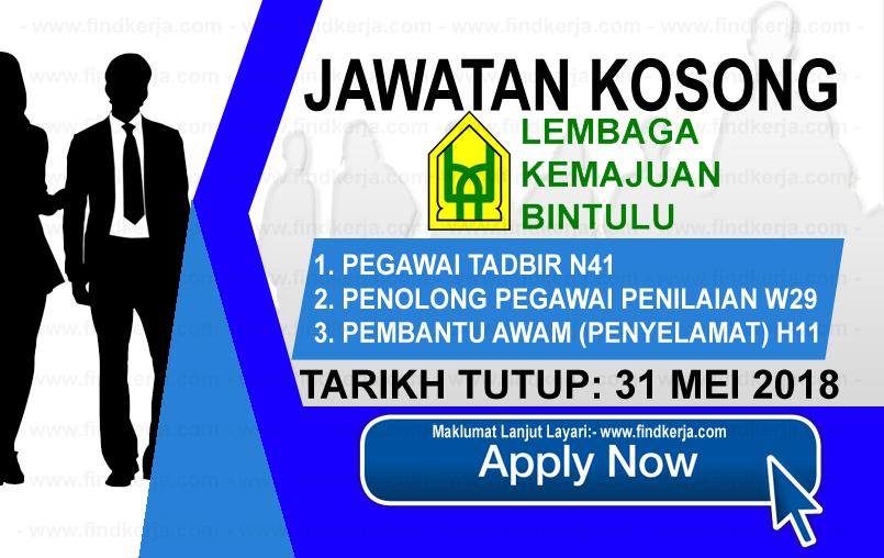 Jawatan Kerja Kosong BDA - Lembaga Kemajuan Bintulu logo www.findkerja.com www.ohjob.info mei 2018
