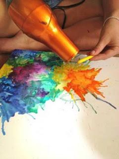 pintar con secador de pelo