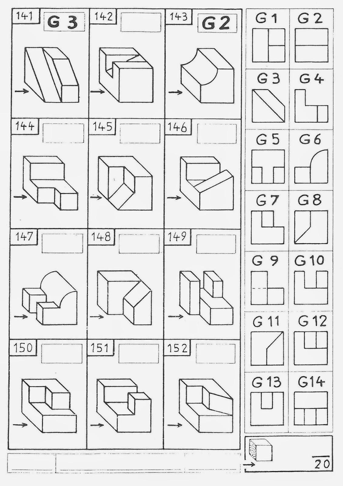 Exercice dessin technique en ligne
