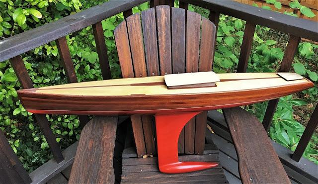 Sun Wind Vintage Marblehead RC Sailboat wood hull