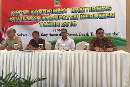 Rakor Kamtibmas Kabupaten Kebumen, Sukseskan Pilkada Aman dan Damai, Becik tur Nyenengake