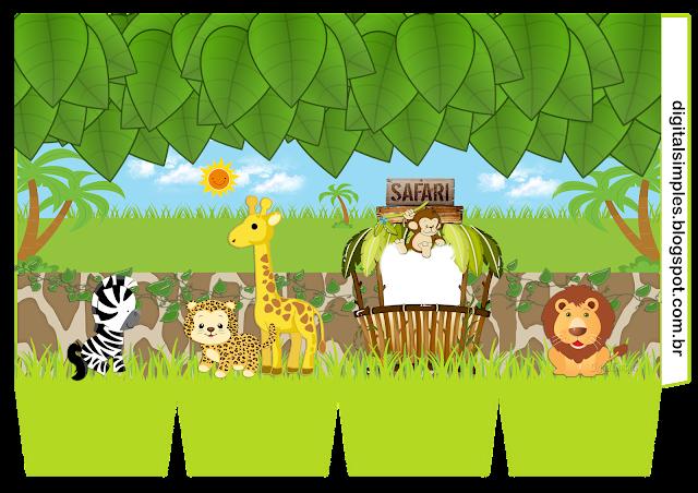 Cajas de Safari Bebés para imprimir gratis.