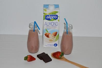 Smoothie de Morango e Chocolate