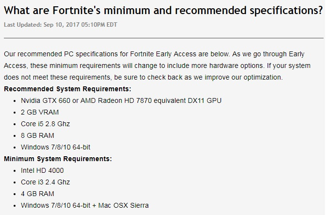 Spec Requirements For Fortnite | Fortnite Free Mobile Skins