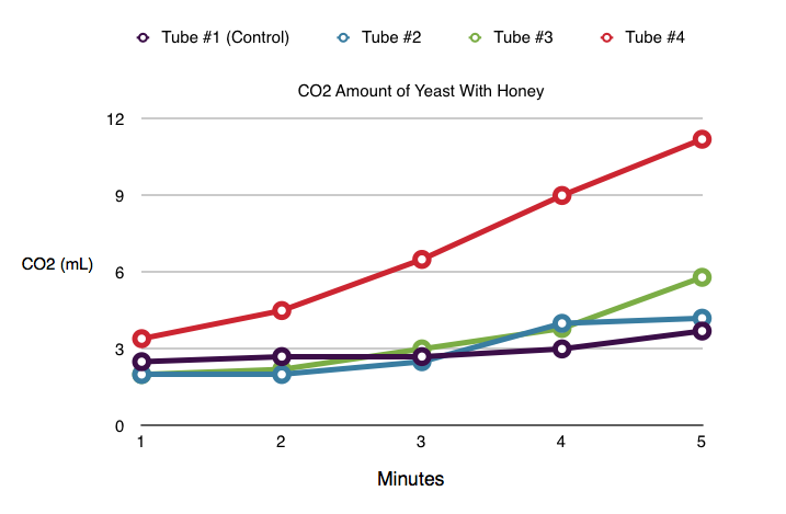 Honors Biology : Cell Respiration Lab: How Honey Effects Yeast