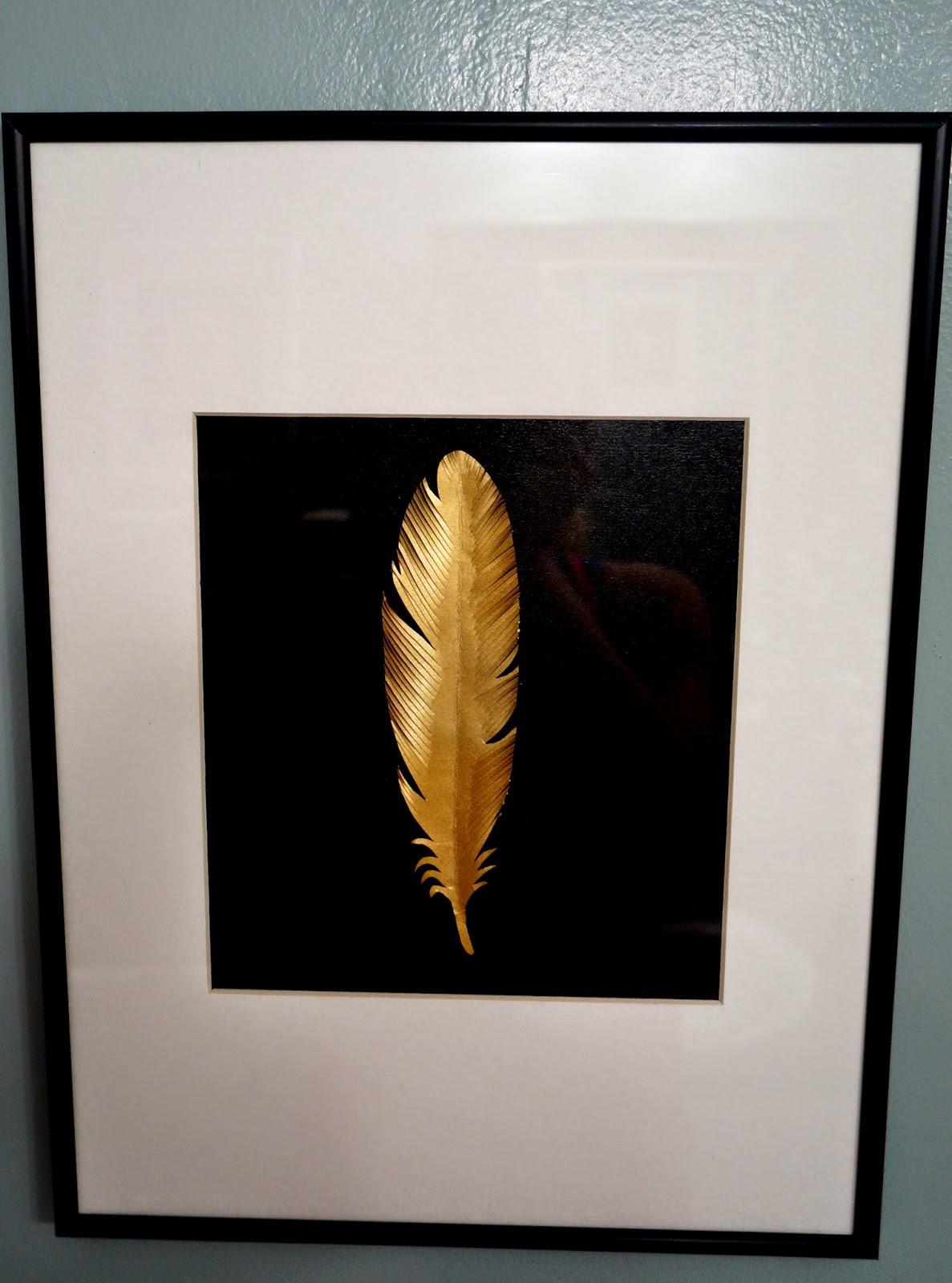 Zelda Madeline Diy Gold Feather Art