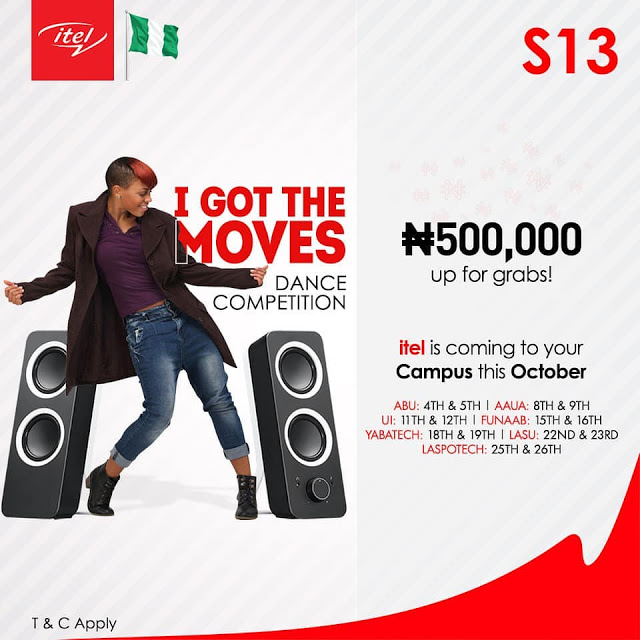 """Win N500,000 in Itel Mobile #tagged """"I Got The Moves"""" Dance Competition."""