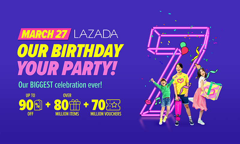 Lazada's Big Birthday Sale on March 27 offers up to 90 percent off on select items