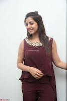 Nikki Galrani in a Brown Shining Sleeveless Gown at Nakshatram music launch ~  Exclusive 021.JPG