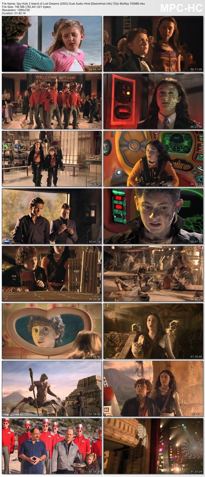 Spy Kids 2: Island of Lost Dreams (2002) Dual Audio Hindi 720p BluRay 750MB Desirehub