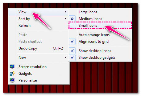 How To Change Desktop Icon Size(Small Large Medium)