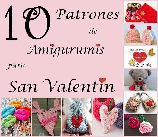10 Patrones de Amigurumis para San Valentín - Arte Friki