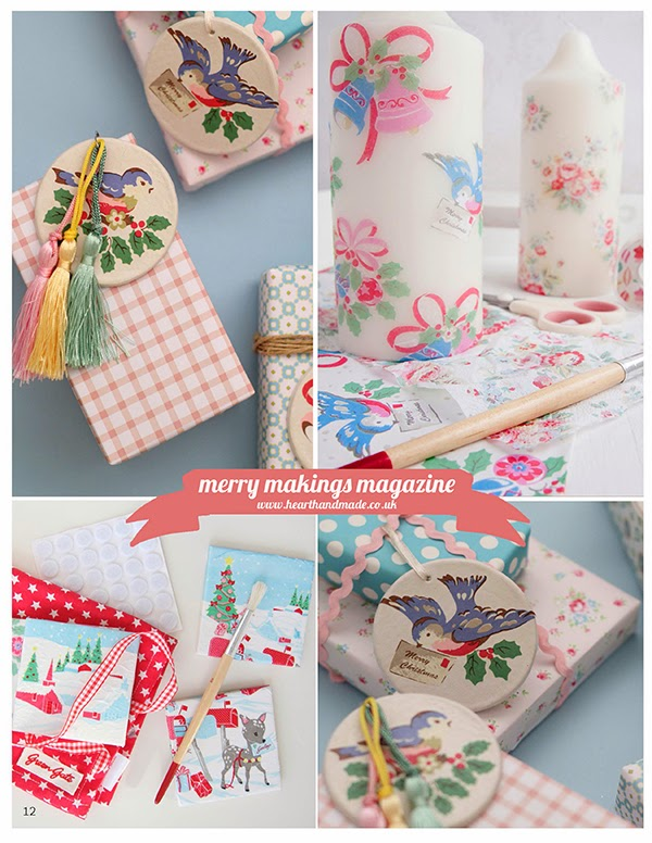 Handmade christmas gift ideas in merry makings magazine