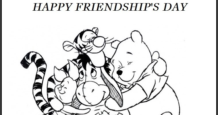 - Didi Coloring Page: Printable Happy Friendship Day Winnie The Pooh And  Friends Coloring Page